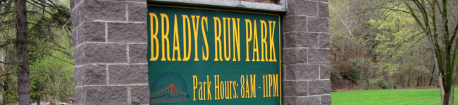 Bradys Run Park Sign