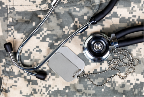 Stethoscope & Dog Tags on Camis